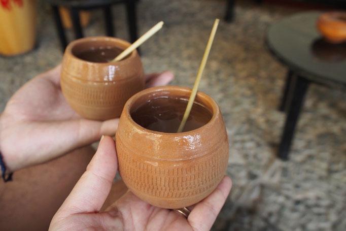トリニダーで飲んだカンチャンチャラ カンチャンチャラはこの地方の伝統的な飲み物だそう