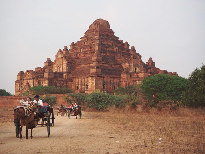 帰り道に観た 馬車とダマタンヂー寺院