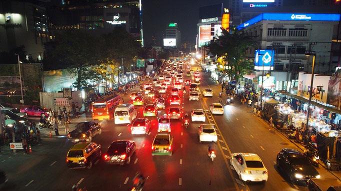 バンコク最後の夜 いつもの渋滞風景