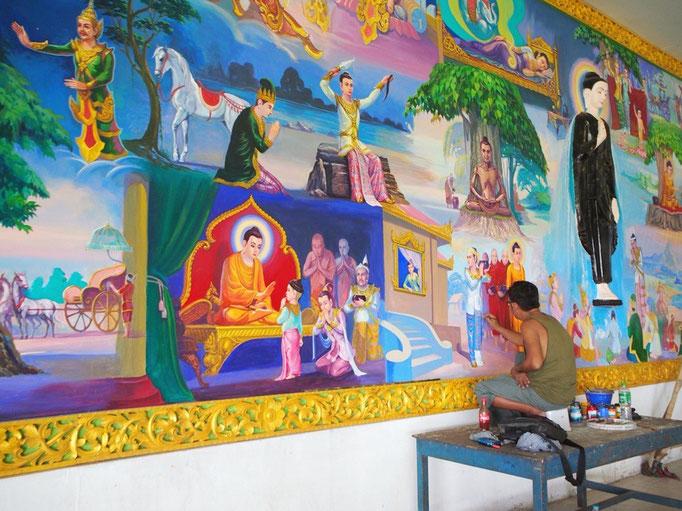 その後 とても大きな涅槃仏がいるという チャウッターヂーパヤーヘ