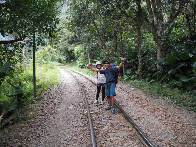 スタンドバイミーロードは線路の上をひたすら歩いて行くという 何とも青春っぽい道