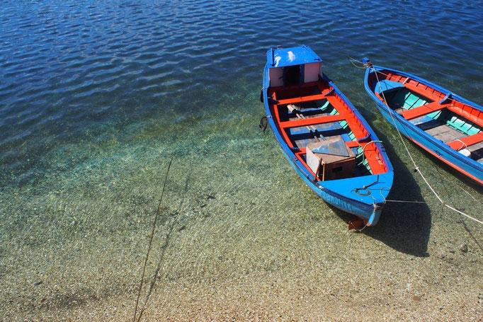 サンティアゴからバスに乗りプエルトモンへ到着 プエルトモンは海沿いの町 海の水もきれい