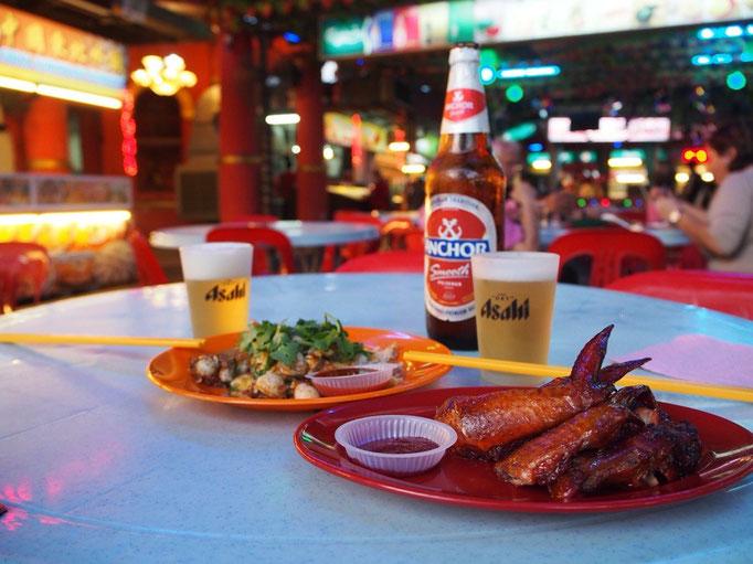 """ペナン島での初めての食事は フードコート""""レッドガーデン""""へ"""