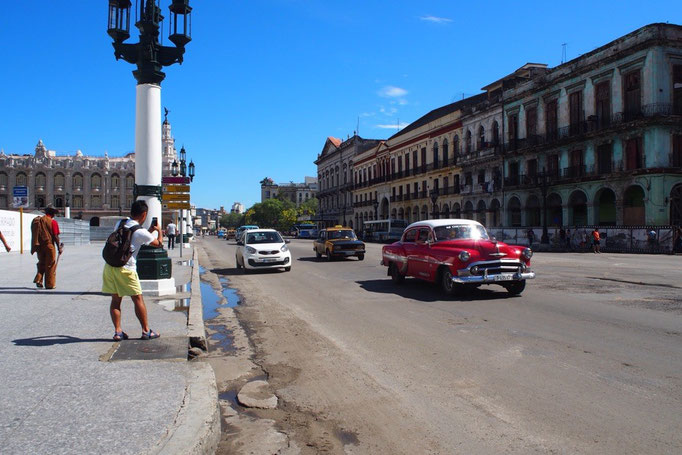 ハバナの街を走るクラシックカー その③