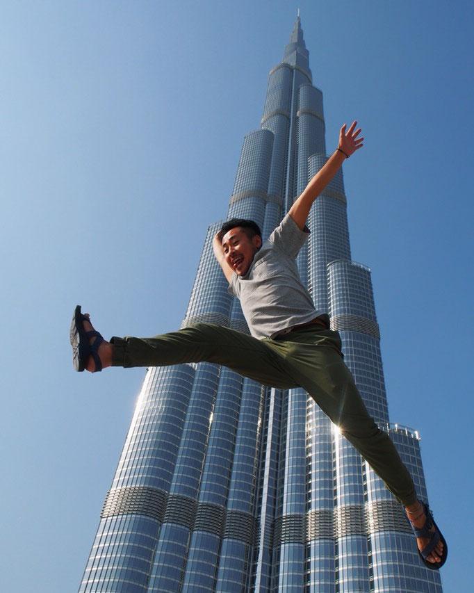 最後の目的地 世界一高いビル ブルジュハリファへ。旦那さんの躍動感...ドバイにさよならー...