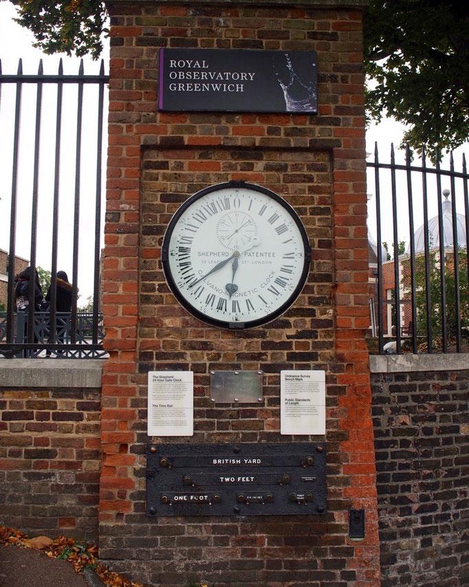 公園を通ってやって来たグリニッジ天文台 ここは本初子午線が定められ 世界の時刻の基準を担っていた場所