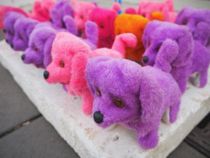 そんな中で 色は派手めだけれど 出店のおもちゃは安定の癒しをくれました♡