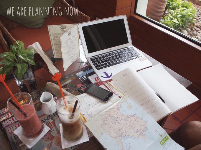 ミャンマー帰りの3回目のバンコク この日は ご近所のカフェにおじゃまして 今後の予定を考える日にすることに