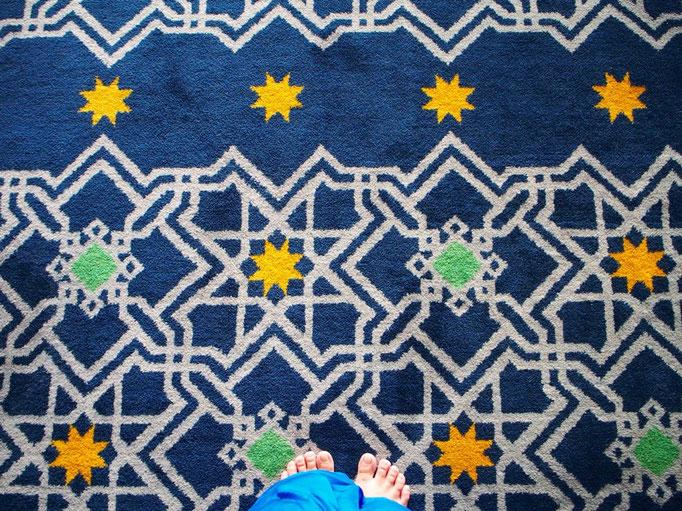 """この日は モスク巡りをすることに はじめに行ったのは通称""""ブルーモスク"""""""