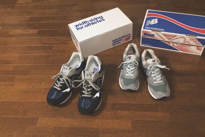 """2人で世界一周に持っていく靴をお持ち帰り ニューバランス""""m577:旦那さん""""""""m1400:私"""""""
