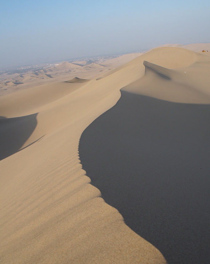 砂丘...この左右の高さが高くて 少しぞぞっとしてしまいます