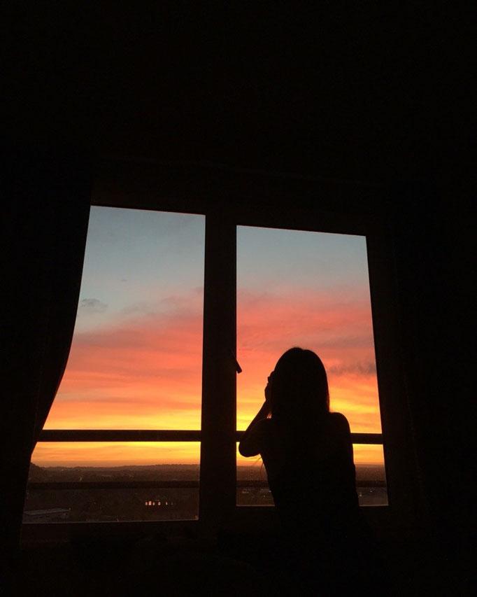 ノッティンガムの朝焼け 朝焼けを見たのはいつぶりだろう