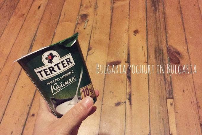 ブルガリアはヨーグルトで有名な国 スーパーでは好きな乳脂肪分%でヨーグルトを選べます(笑)