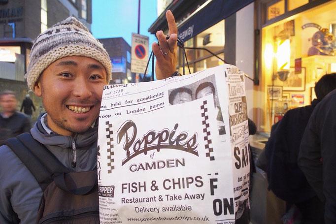 """イギリスでは""""National Fish&Chips Award""""が毎年発表されますが""""Poppies""""は2013年のファイナリストになったお店"""