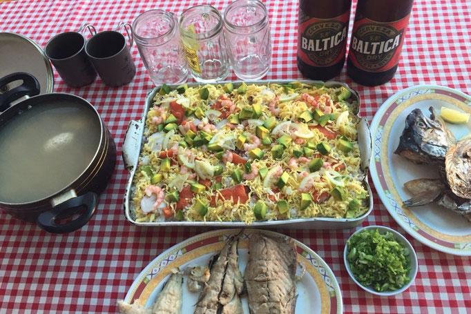 ビーニャデルマル滞在中にひな祭りを迎えたので みんなでちらし寿司を作ってお祝い