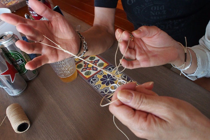もともと編み物もされたりするので すぐに覚えてしまう器用さがうらやましい