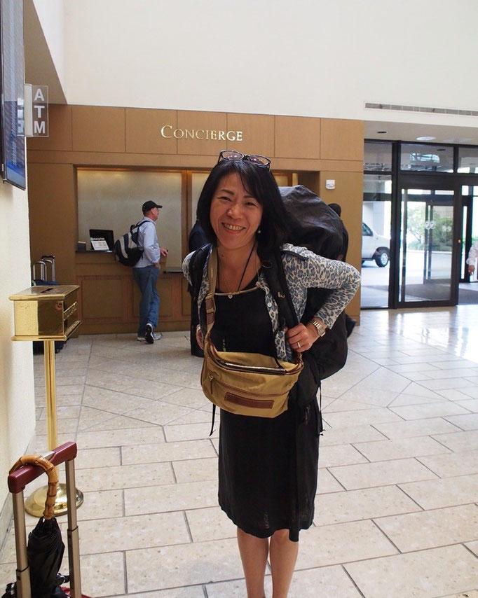 マイアミ港を後にしてマイアミ空港近くのホテルにチェックイン