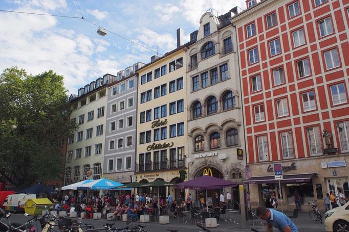ミュンヘンの街並み② 目に入る風景が変わって ドイツ語はちんぷんかんぷんで 違う国に来た感じがする
