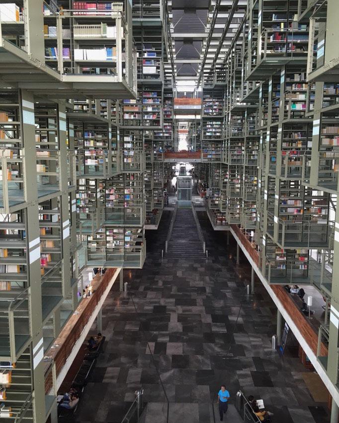 この日はヴァスコンセロス図書館へお出かけ SF映画のセットみたいな洗練された空間