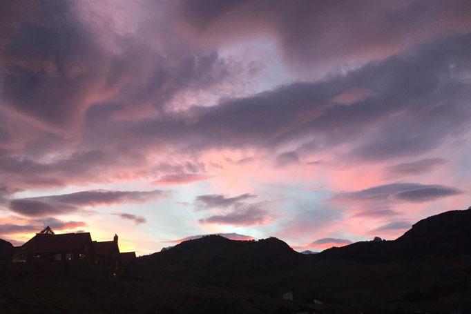 エルチャルテンの夕焼け