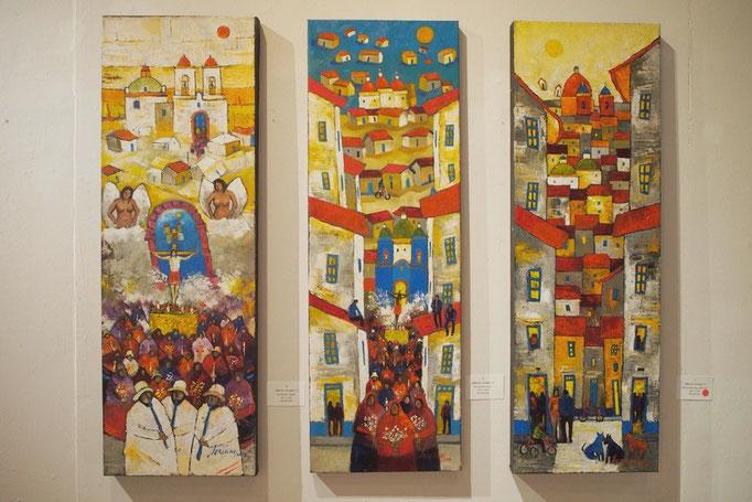 クエンカの町にはいろんな美術館や ちいさく絵を展示しているところもあって楽しい