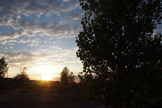 自然の中は空気が綺麗だからか 美しい夕暮れを観る機会がたくさん