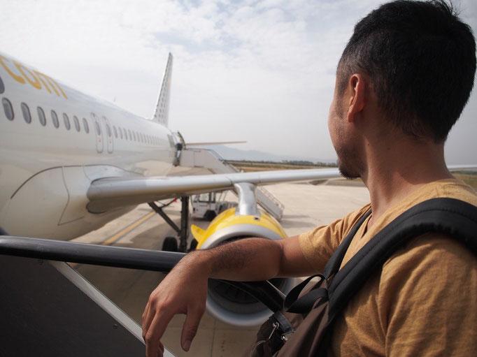 モロッコからは初のブエリング航空でバルセロナへ向かいます✈︎