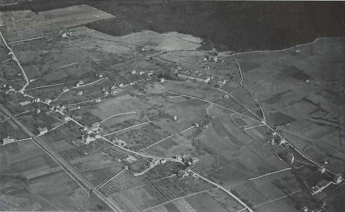 Masans 1925, Luftaufnahme von Walter Mittelholzer