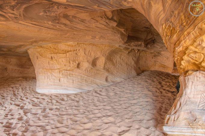 """In der Höhle gibt es unterschiedliche """"Räume"""""""