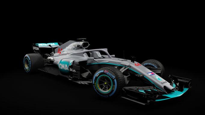 RSS Formula Hybrid 2018 MERCEDES W09