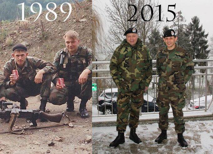 1989 Aktiv im Dienst  Links Cpl-Ch HILTGEN Rechts Cpl Grignard / 2015  ASORL