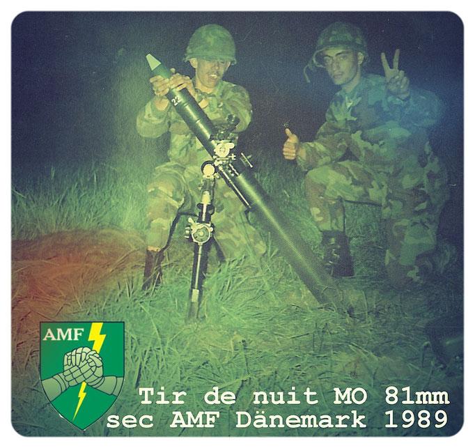 AMF 1989 Nato Manöver in Dänemark, Cpl-Ch Hiltgen  links im Bild Mitglied in der ASORL