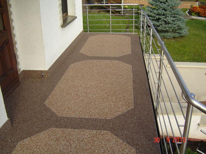 Treppensanierung mit 2 farbigen Muster