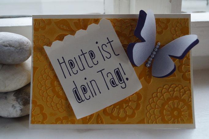 Geburtstagskarte zweimal embosst - Patricia Stich 2015