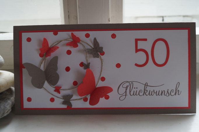 Geburtstagskarte Schmetterlingsreigen - Patricia Stich 2015