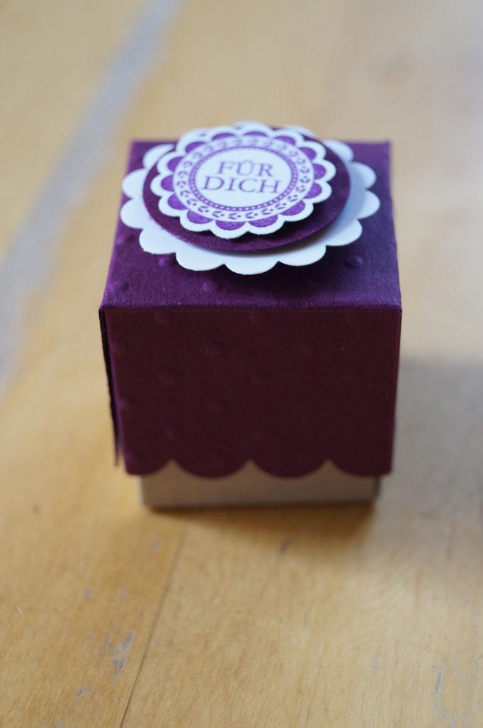Mini-Box mit Deckel von Silke (www.lillistempelt.de)