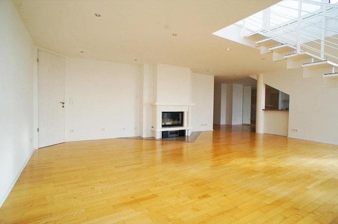 Wohnen mit Kamin Penthouse Wiesbaden