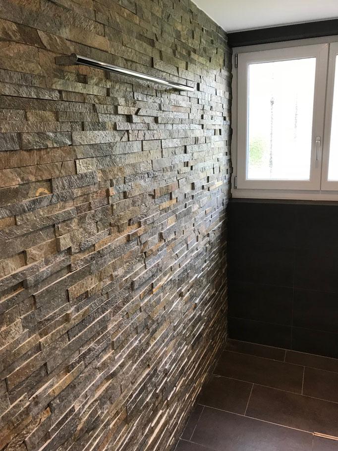 Wandbelag mit Naturstein-Verblender / Felben-Wellhausen
