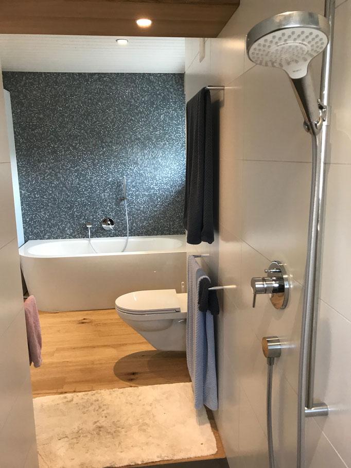 Umbau Badezimmer Mosaik Uttwil