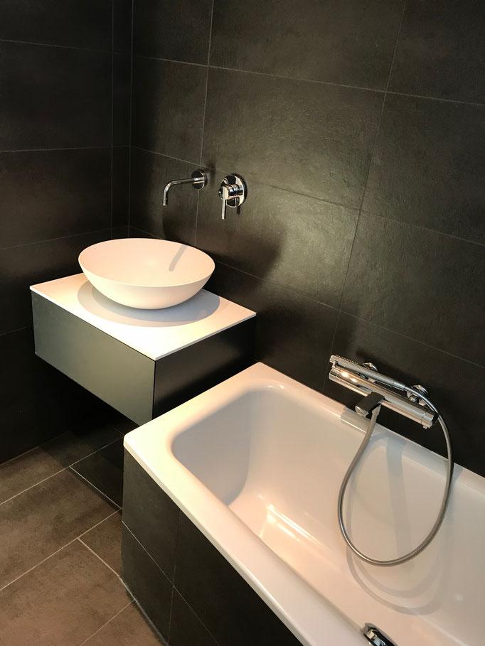 Umbau Badezimmer mit Keramik und Epoxidharzfugen