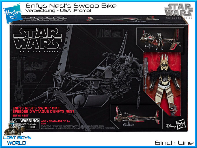 The Black Series - 6 Inch - Enfys Nest w/ Swoop Bike