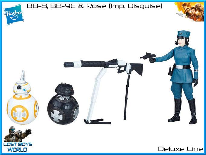 BB-8, BB-9E & Rose