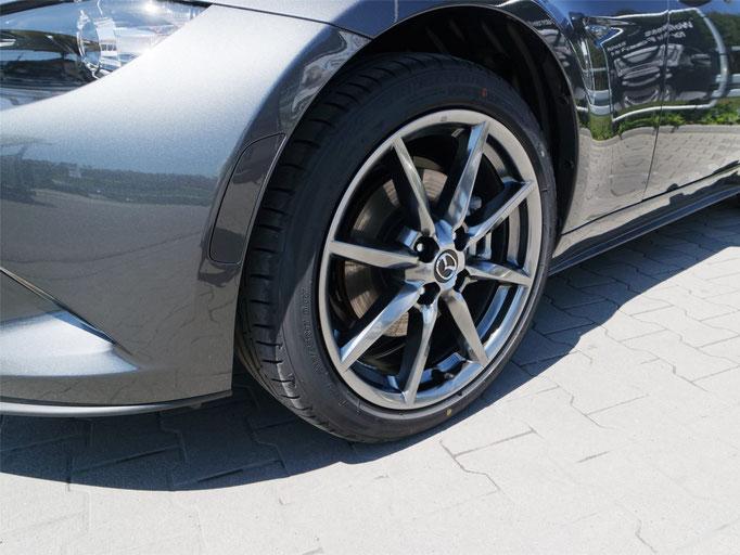Mazda MX5 Detailaufnahme Felge