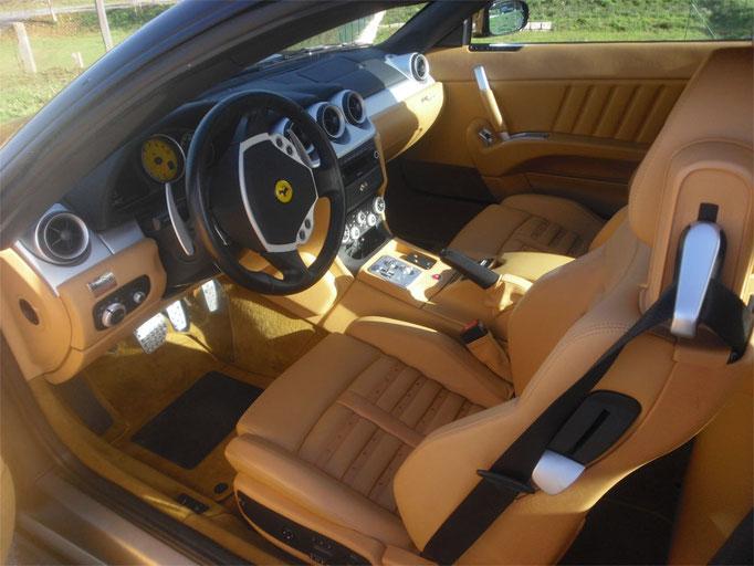 Interieur eines Ferrari