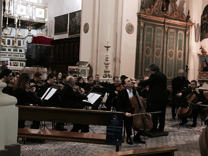 Autunno Musicale Festival in Italy with Caserta Chamber Orchestra conducted by Antonino Cascio - Piedimonte Matese, November 2016
