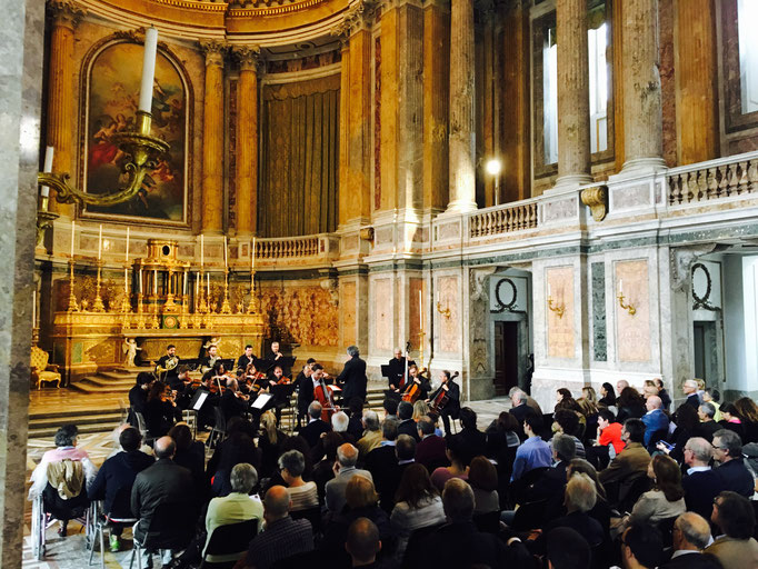 Autunno Musicale Festival in Italy with Caserta Chamber Orchestra conducted by Antonino Cascio - Royal Palace in Caserta, November 2016