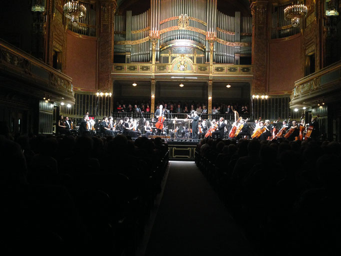 Grand Hall of F. Liszt's Academy of Music in Budapest - Dohnanyi Orchestra Budafok conducted by Tibor Boganyi February 2016