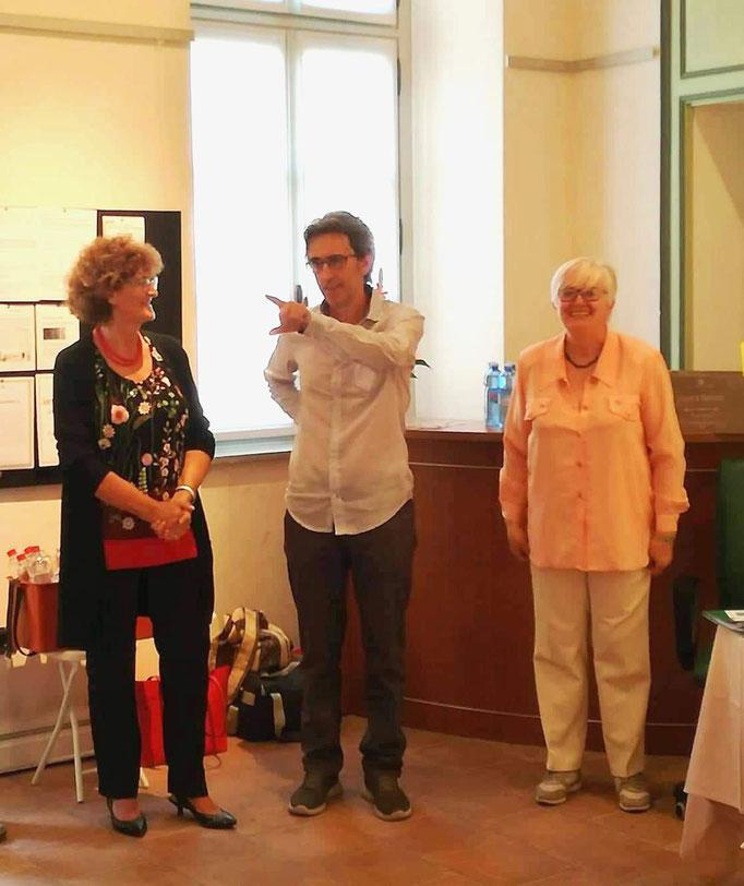 Con L'Assessora Franca Giordano e la prof.ssa Giovanna Giriodi