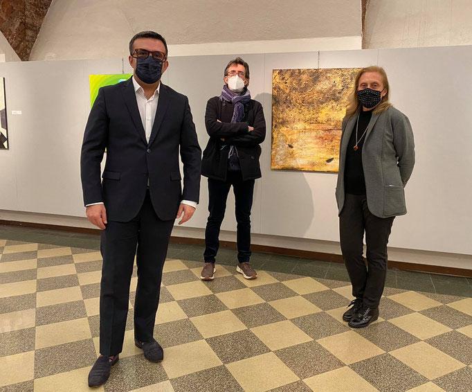 Massimiliano Longo Assessore Culturae  Patrizia Portalupi Presidente Associazione Paolo Borsa