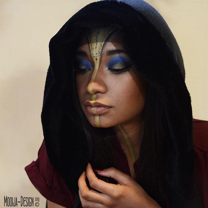 Model J'nice in samenwerking met Esther Smallegoor visagie en Ilse voor Mooija-Design